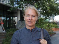 Merete Lie fra Deichman i podcasten Lederliv med Ole Christian Apeland.
